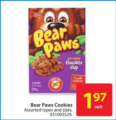 Dare Bear Paws Cookies