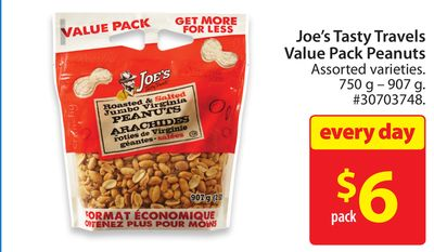 Joe's Tasty Travels Value Pack Peanuts