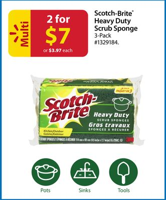 Scotch-brite Heavy Duty Scrub Sponge 3 Pack