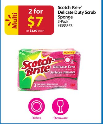 Scotch-brite Delicate Duty Scrub Sponge 3 Pack