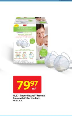 Nuk Simply Natural Freemie Breastmilk Collection Cups