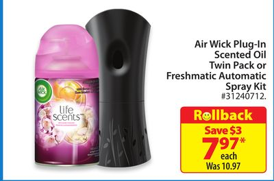 Air Wick Plug-in Scented Oil Twin Pack or Freshmatic Automatic Spray Kit