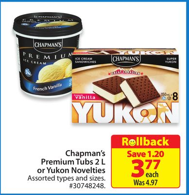 Premium Tubs 2 L or Yukon Novelties