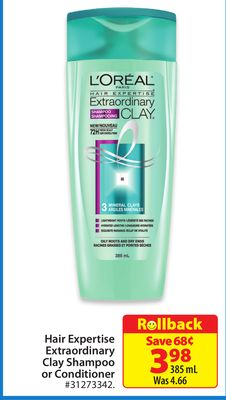 L'Oreal Hair Expertise Extraordinary Clay Shampoo or Conditioner