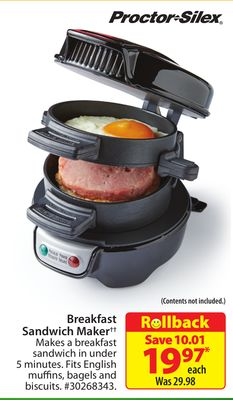 Proctor-silex Breakfast Sandwich Maker