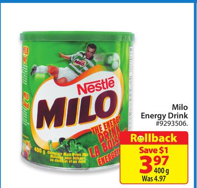 Nestle Milo Energy Drink