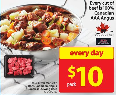 Your Fresh Market 100% Canadian Angus Boneless Stewing Beef