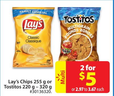 Lay's Chips 255 g or Tostitos 220 g - 320 g