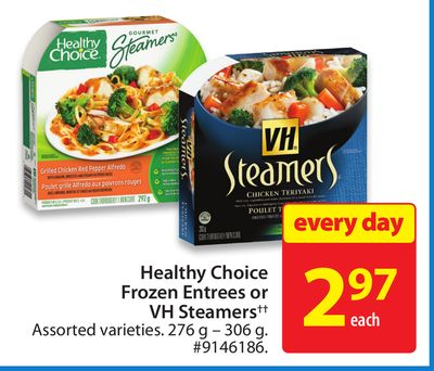 Healthy Choice Frozen Entrees or VH Steamers