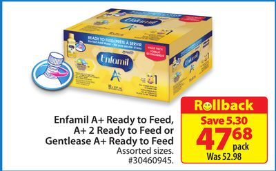Enfamil A+ Ready To Feed - Gentlease A+ Ready To Feed