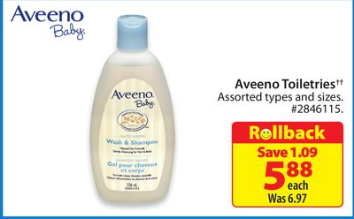 Aveeno Toiletries