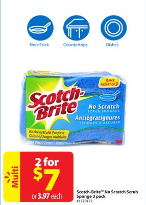 Scotch-brite No Scratch Scrub Sponge 3 Pack