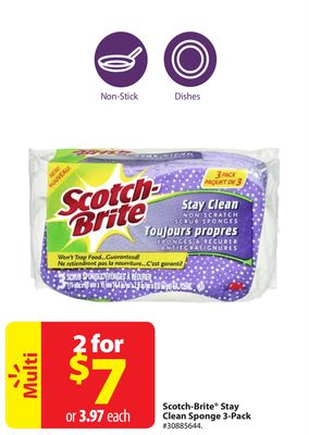 Scotch-brite Stay Clean Sponge 3-pack