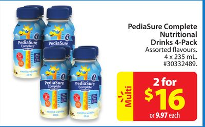 Pediasure Complete Nutritional Drinks 4-pack