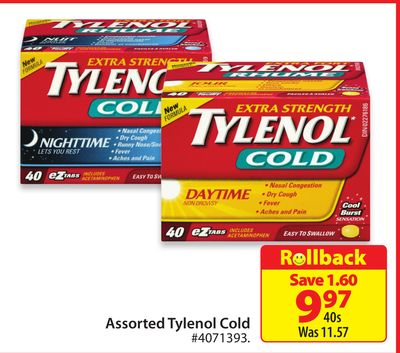 Assorted Tylenol Cold