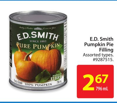E.d. Smith Pumpkin Pie Filling