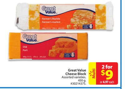 Great Value Cheese Block