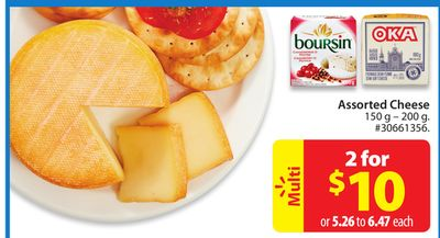 Boursin Assorted Cheese