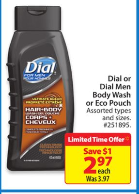 Dial or Dial Men Body Wash Or Eco Pouch