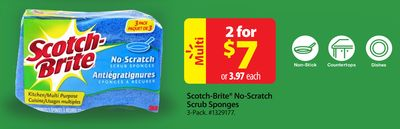Scotch-brite No-scratch Scrub Sponges