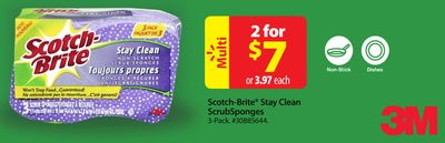 Scotch-brite Stay Clean Scrub Sponges