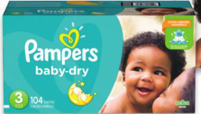 Pampers Superpack Baby Dry - Cruisers or Swaddlers