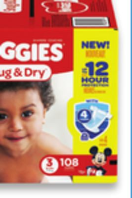 Huggies Little Movers or Snug & Dry Giga Box Diapers