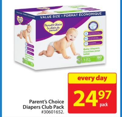 Parent's Choice Diapers Club Pack