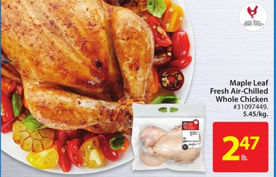 Maple Leaf Fresh Air-chilled Whole Chicken Whole Chicken