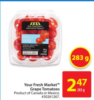 Your Fresh Market Grape Tomatoes