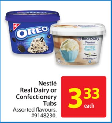 Nestlé Real Dairy or Confectionery Tubs