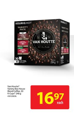 Van Houtte Variety Box House Blend Coffee - 30 K-cups 248 g