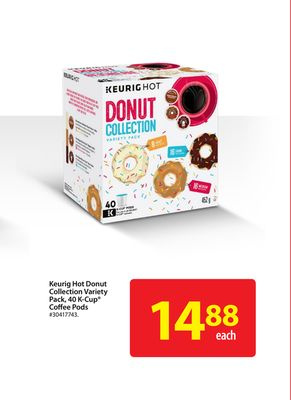 Keurig Hot Donut Collection Variety Pack - 40 K-cup Coffee Pods