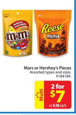Mars or Hershey's Pieces