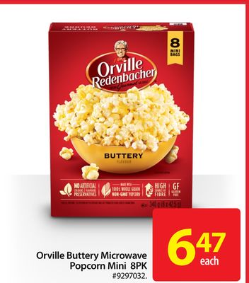 Orville Buttery Microwave Popcorn Mini 8pk