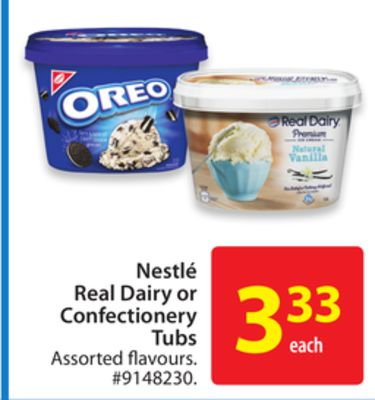 Nestle Real Dairy or Confectionery Tubs