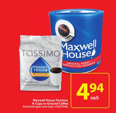 Maxwell House Tassimo - K-cups or Ground Coffee