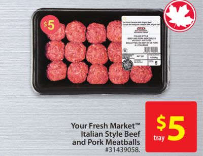 Your Fresh Market Italian Style Beef and Pork Meatballs