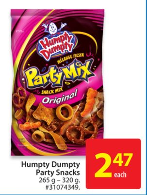 Humpty Dumpty Party Snacks