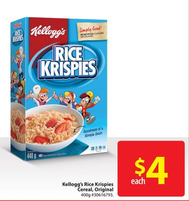 Kellogg's Rice Krispies Cereal - Original