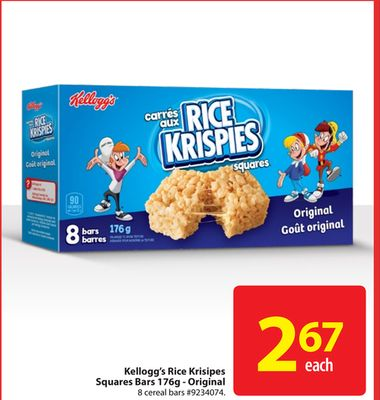 Kellogg's Rice Krispies Squares Bars 176g - Original