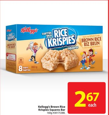 Kellogg's Brown Rice Krispies Squares Bar