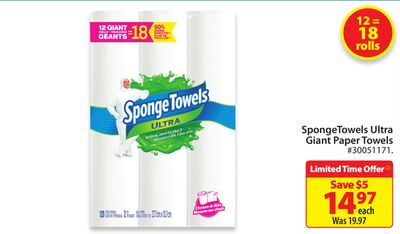 Spongetowels Ultra Giant Paper Towel