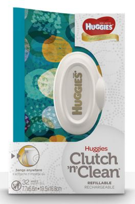 Huggies Natural Care Baby Wipes With The Clutch 'N Clean Carrying Case Solution