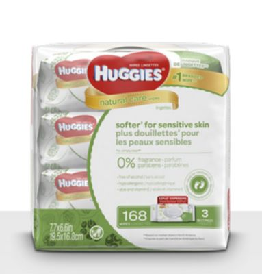 Huggies Natural Care Baby Wipes - Soft Pack