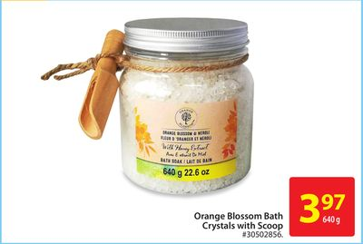 Orange Blossom Bath Crystals With Scoop