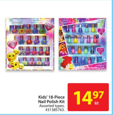 Kids' 18-piece Nail Polish Kit