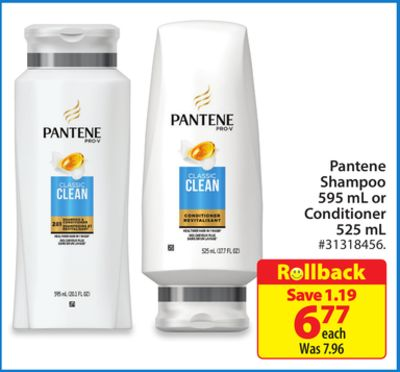 Pantene Shampoo 595 mL or Conditioner 525 mL