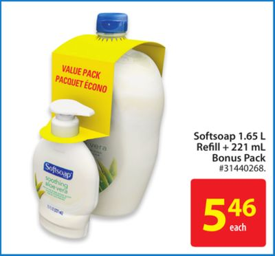 Softsoap 1.65 L Refill + 221 mL Bonus Pack