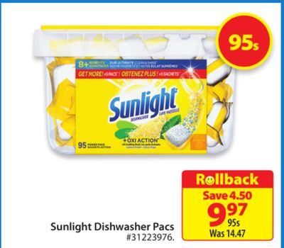 Sunlight Dishwasher Pacs